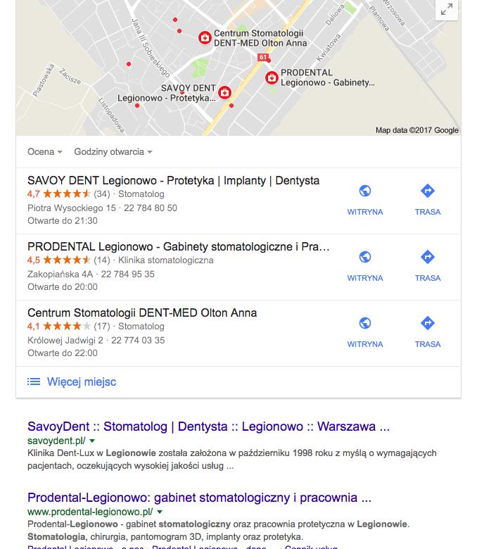 Pozycjonowanie lokalne w google maps