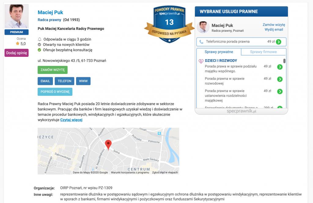 Spacprawnik.pl amarketing prawniczy