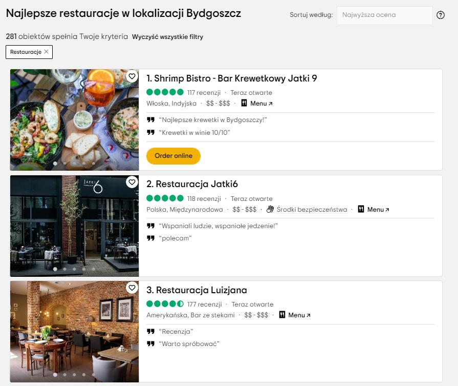 Marketing wgastronomii - TripAdvisor