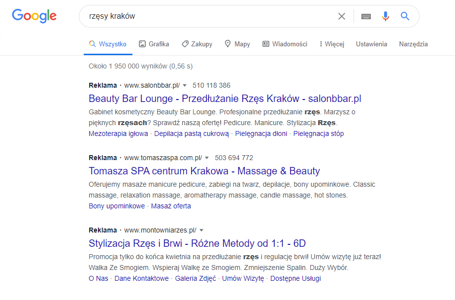 Wyniki sponsorowane poprzez Google Ads. Simpliteca