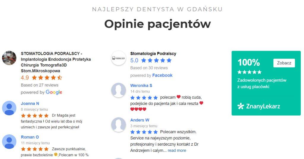 Opinie pacjentów nastronie - Simpliteca