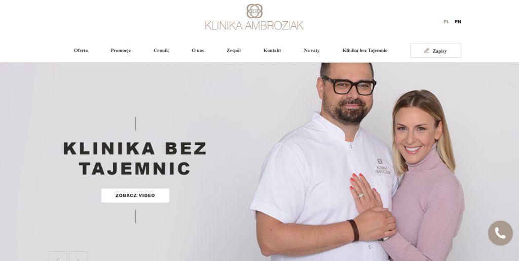 Strona internetowa Klinika Ambroziak - Simpliteca