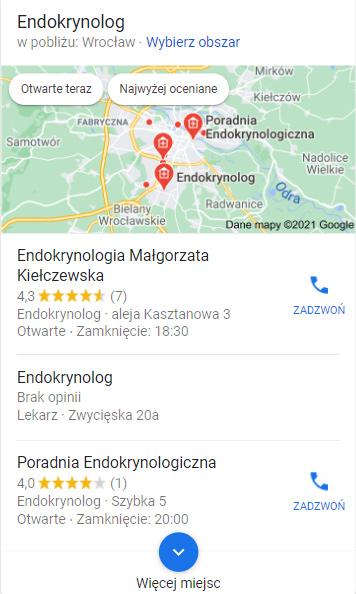 Google Moja Firma wwynikach wyszukiwania - Simpliteca