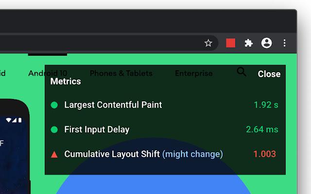 Nakładka naGoogle Chrome pomoże Ci wocenieniu poszczególnych Core Web Vitals. Simpliteca