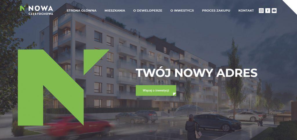 Strona inwestycji deweloperskiej