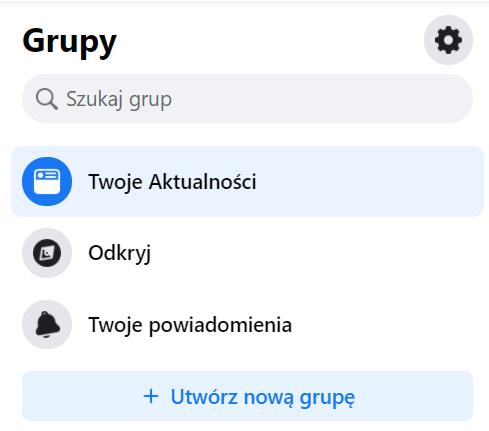 Pierwszy krok dostworzenia grupy naFacebooku.